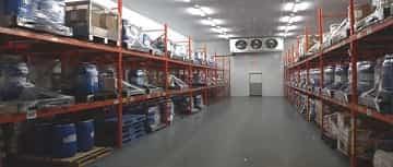 ADLI Logistics' cold temperature controlled refrigerated warehouse.