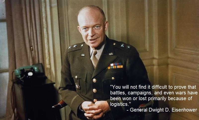 Eisenhower logistics quote