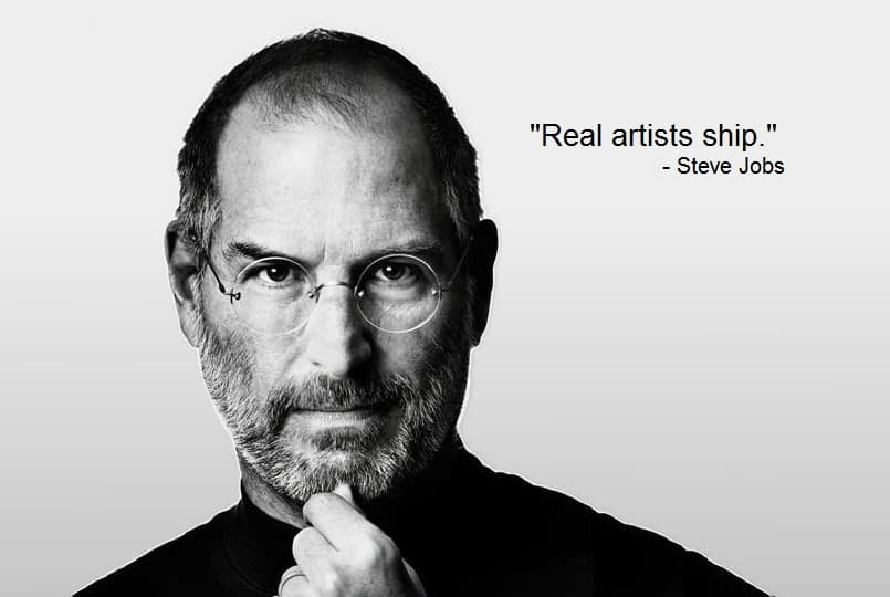 Steve Jobs Real artists ship quote